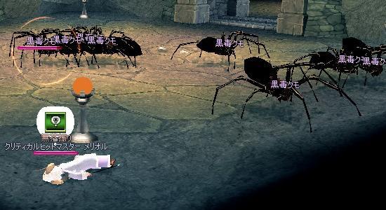 黒毒クモ4*3にかこまれた!