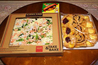 BIG SIZEのピザ&パンの詰め合わせ