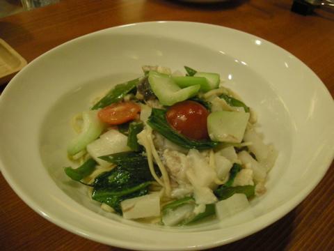 うなぎと夏野菜のパスタ