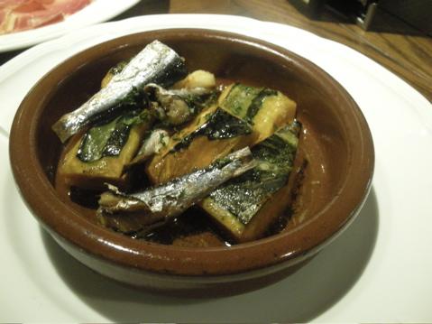 カボチャとイワシのオーブン焼き