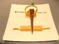 キャラメル・ブール・サレのギモーブとオレンジのパルフェ