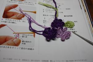 刺繍糸のモチーフ