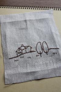 カントリー刺繍1
