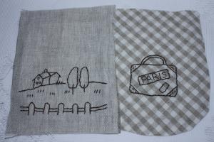 携帯ケース刺繍2つ