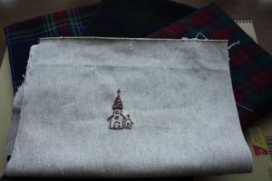 ウールバッグ用刺繍1