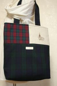 教会刺繍ウールバッグ
