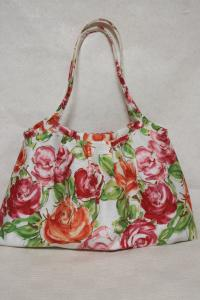 花柄バッグできあがり