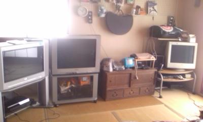 テレビが3つ