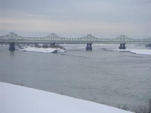 長岡・信濃川(冬)