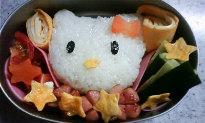 初めてのお弁当キティ