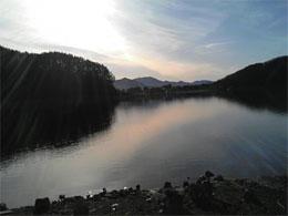 合宿:早朝の河口湖