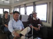 河和港から日間賀島に向かう船の中で