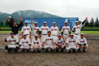 20全国都道府県議会議員親善野球大会(福島県) 。全員で記念撮影。