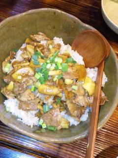 茅ヶ崎DEN 茸と豚肉のガーリクライス