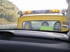 ジェノヴァのレッカー車上