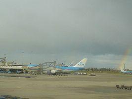 アムステルダム空港のボーイング747