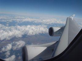 KLMボーイング747の羽