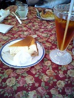 アールグレイとチーズケーキ