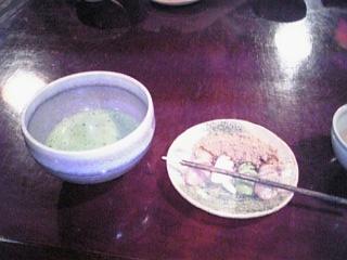 抹茶と団子