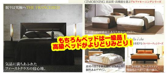 フランスベッドだから、もちろんベッドは一級品です。高級ベッドがよりどりみどり。