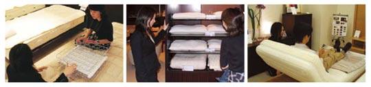 歴史あるフランスベッドの寝姿勢測定