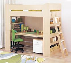 小島工芸の学習デスク・システムベッドの例