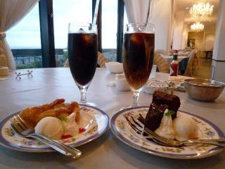 Ocean Pacific Cafe ケーキセット 自家製 アイスコーヒー ドリンク