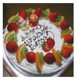 ふーちゃんBDケーキ