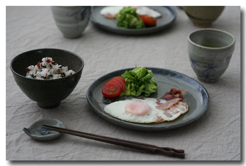 目玉焼き朝食