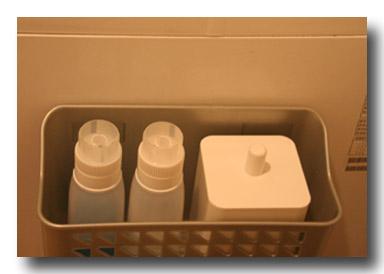 洗剤とゴミ箱