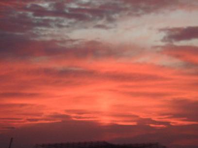 8月1日の夕焼け