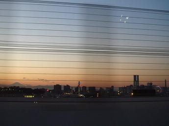 夕焼けの横浜