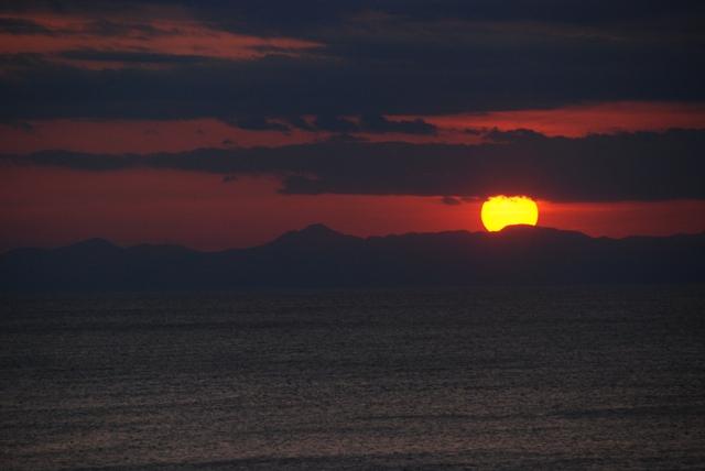 西伊豆の夕日