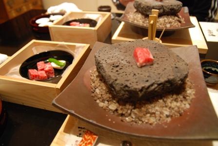 伊豆牛の溶岩焼き
