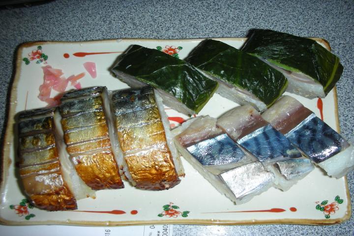 空港で父から持たされた鯖寿司