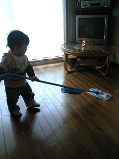 朝からお掃除