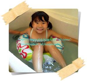 お風呂でプール1