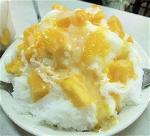 マンゴーのミルクかき氷