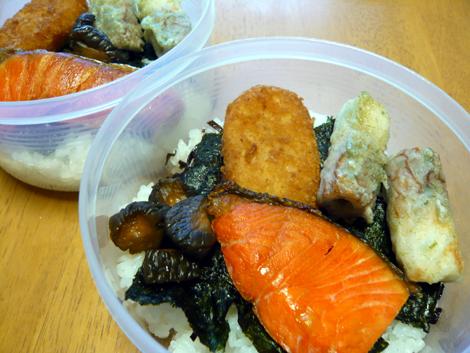 のり鮭弁当2