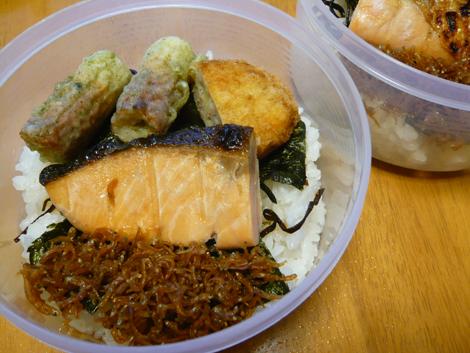 海苔鮭弁当2