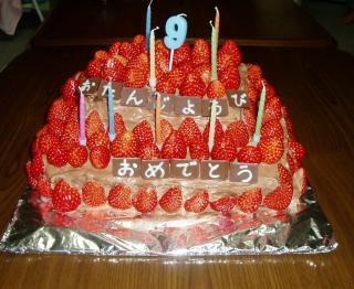 誕生日ケーキ縮小