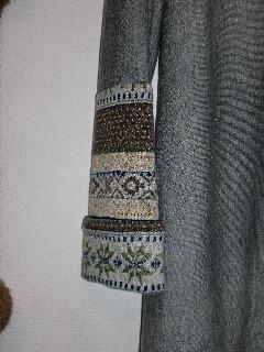 ニットグレー袖320