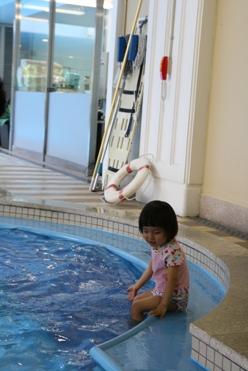 朝からプール