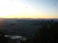 山頂からの夕景