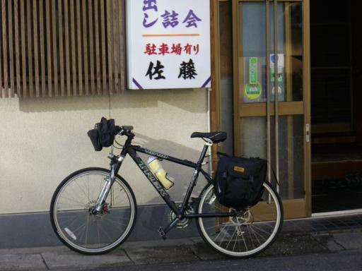 旅館と自転車