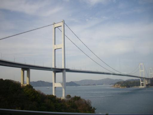 サンライズ糸山から見た来島海峡大橋