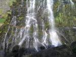 大川の滝にかかる虹