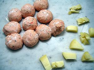 トマトチーズパン