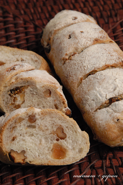 パン教室 クルミフィグパンとチーズセサミパン