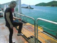 神戸港から高松港へジャンボフェリーで。g村山義光氏